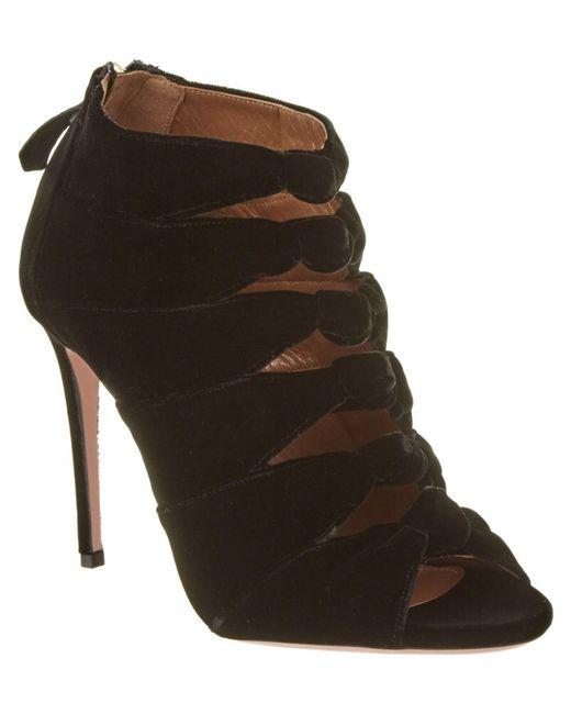 Aquazzura   Black Nasiba 105 Heeled Sandal   Lyst