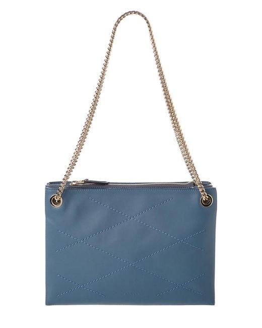 Lanvin | Blue Quilted Leather Shoulder Bag | Lyst