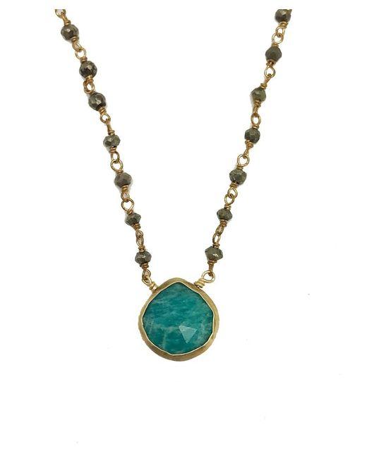 Blue Candy Jewelry | Blue Sweet Tart Apatite Gemstone Pyrite Necklace | Lyst
