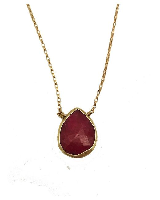 Blue Candy Jewelry | Red Sweet Tart Ruby Gold Necklace | Lyst