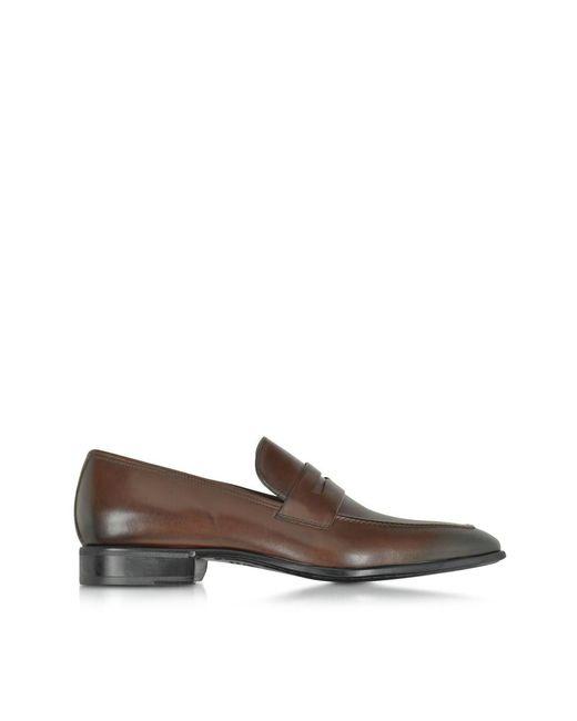 Moreschi | Men's 41335mqdarkbrown Brown Leather Loafers for Men | Lyst