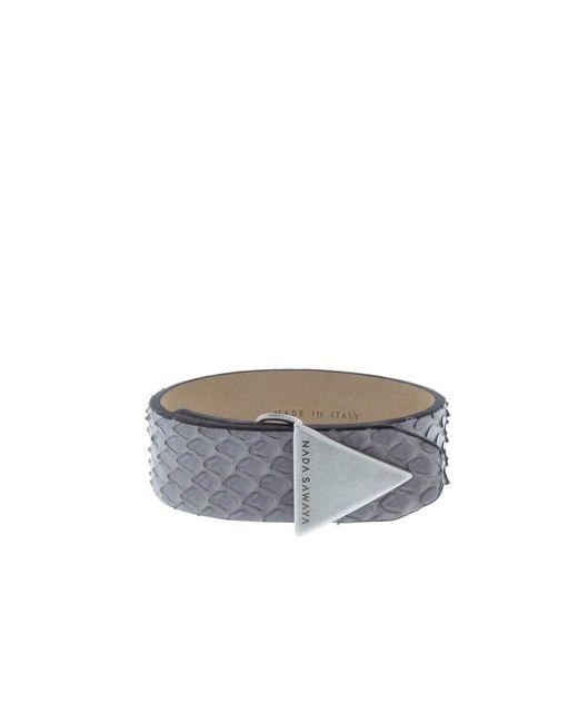 Nada Sawaya | Gray The Simple - Python And Satin Black Nickel-tone Bracelet | Lyst