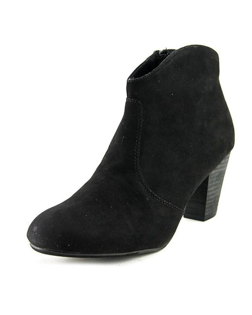 Report | Marcus Women Round Toe Suede Black Ankle Boot | Lyst