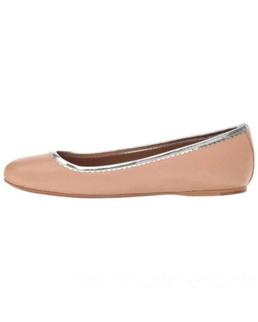 COACH - Pink Womens Halle Almond Toe Ballet Flats - Lyst