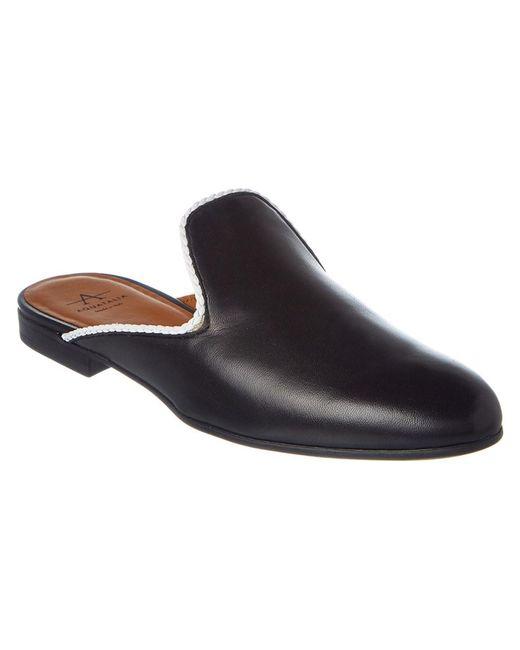 Aquatalia | Black Emerson Waterproof Leather Slide | Lyst