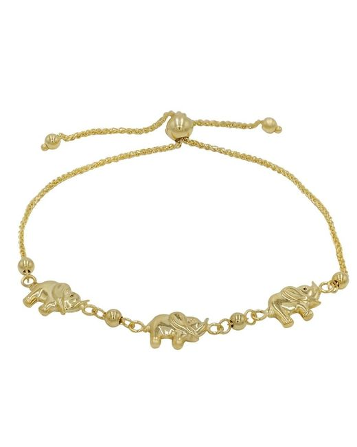Amanda Rose Collection | Metallic Amanda Rose Elephant Bolo Bracelet In 14k Yellow Gold (adjustable) | Lyst