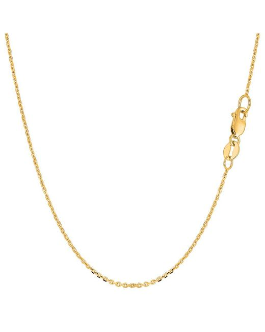 JewelryAffairs - 10k Yellow Gold Cable Link Chain Necklace, 1.1mm, 20 Inch - Lyst