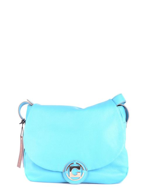 Gherardini - Women's Light Blue Leather Shoulder Bag - Lyst