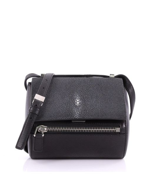 Givenchy - Black Pre Owned Chain Pandora Box Handbag Stingray Mini - Lyst  ... 1cf8563900cfa