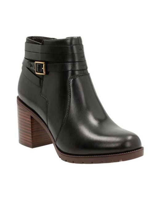 Clarks   Black Women's Malvet Maria Ankle Boot   Lyst