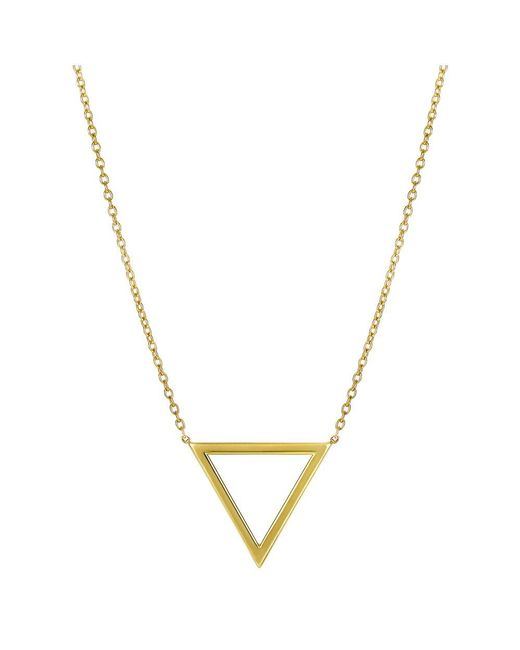 JewelryAffairs - 14k Yellow Gold Triangle Delta Symbol Pendant Necklace, 18 - Lyst