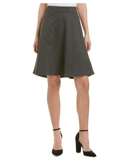 Three Dots - Black Trumpet A-line Skirt - Lyst