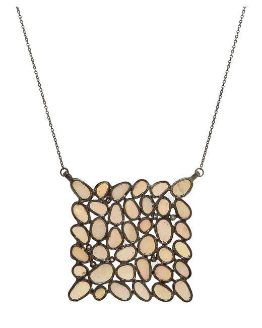 Adornia - Metallic Ethiopian Opal And Diamond Mosaic Necklace - Lyst