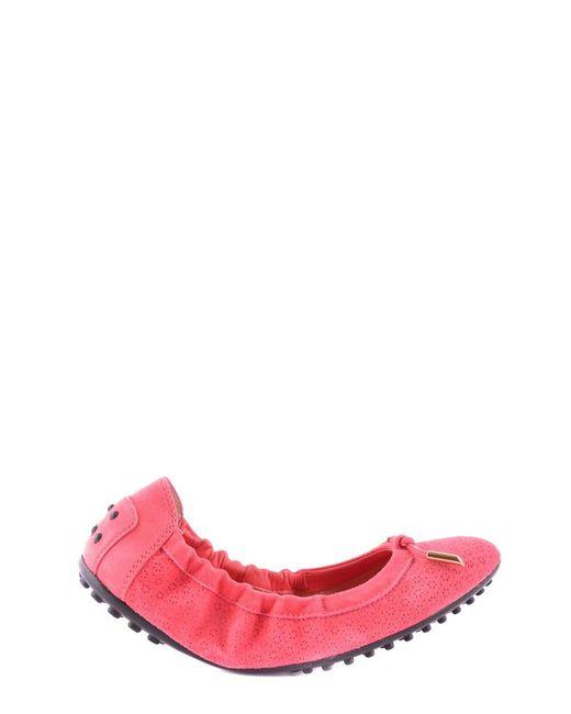 Tod's - Pink Women's Mcbi293001o Fuchsia Fabric Flats - Lyst