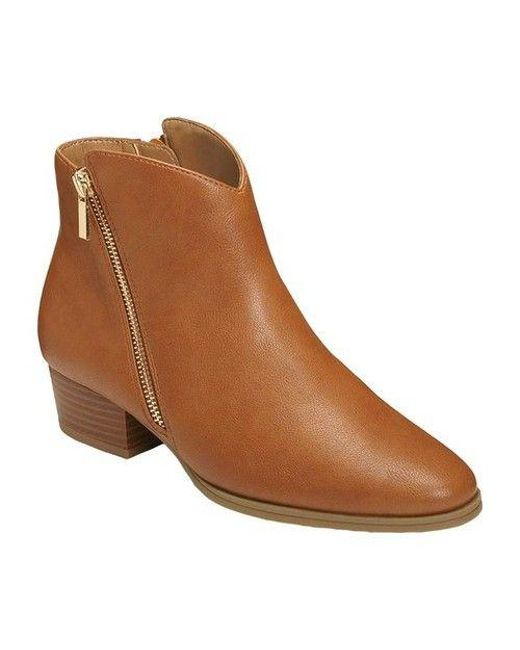 A2 By Aerosoles - Brown Women's Cross Over Ankle Boot - Lyst
