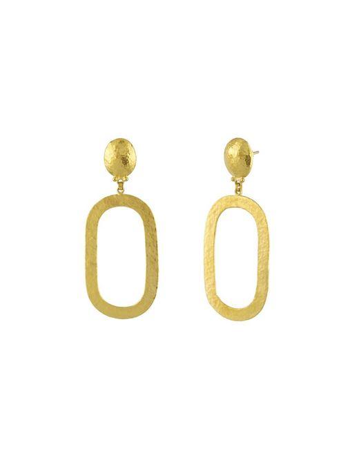 Gurhan - Metallic Mango Link Long Drop Earrings - Lyst