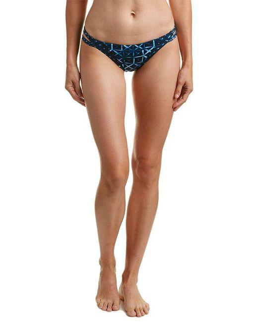 Lucky Brand - Blue Side Strap Hipster Bikini Bottom - Lyst