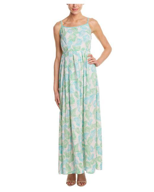 Sugarlips - Green Palm Spring Maxi Dress - Lyst