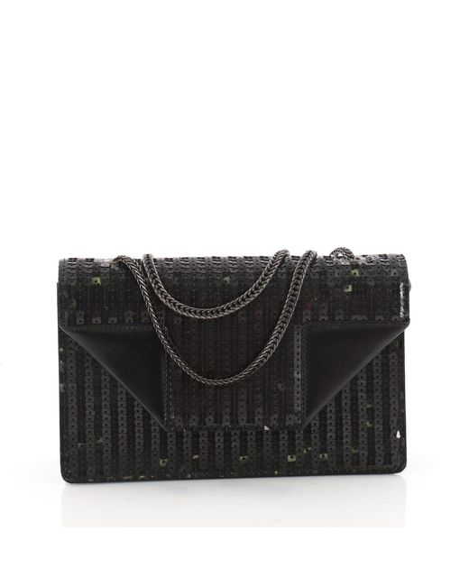 Saint Laurent - Black Pre Owned Betty Bag Sequins Small - Lyst