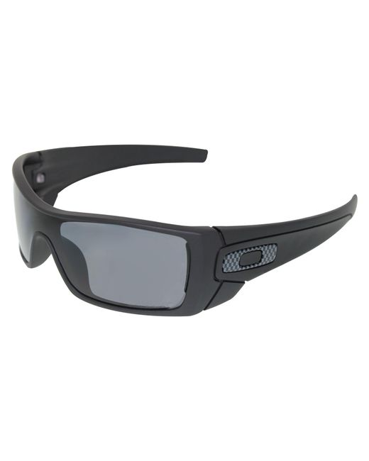 945d13cd8d Oakley - Men s Polarized Batwolf Oo9101-04 Black Shield Sunglasses for Men  ...