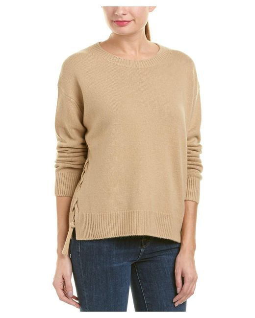 Vince | Natural Cashmere Pullover | Lyst