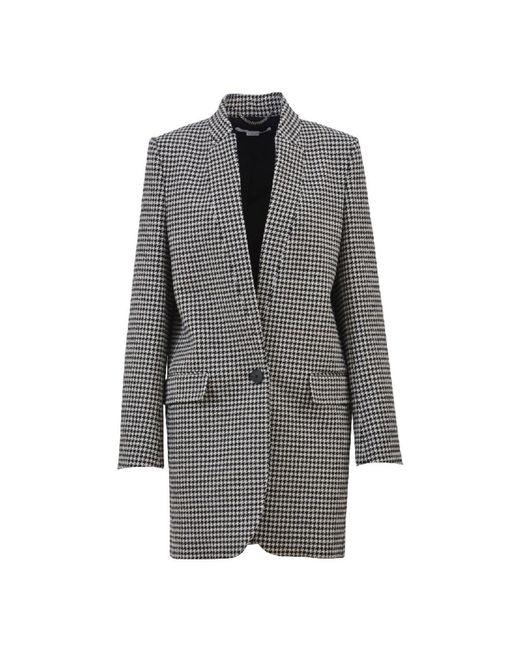 Stella McCartney - Women's White/black Wool Coat - Lyst