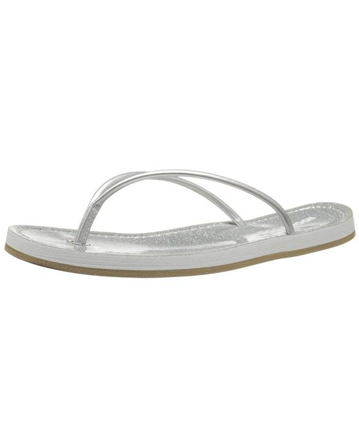 eadb3d1463b8 Rocket Dog - Metallic Women s Palm Beach Dubs Polyurethane Shine On Flip  Flop ...