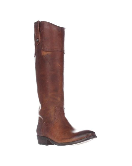 Frye - Brown Carson Riding Button Western Tall Boots - Cognac - Lyst