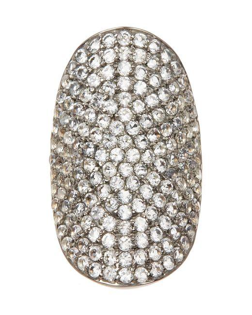 Adornia - Metallic White Topaz And Sterling Silver Farrah Ring - Lyst