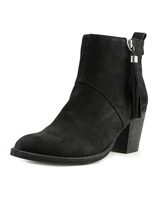 Steven by Steve Madden - Black Womens Beti Leather Almond Toe Ankle Fashion Boots - Lyst