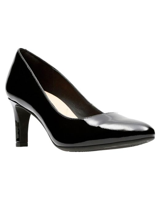 Clarks - Black Calla Rose Pump - Lyst