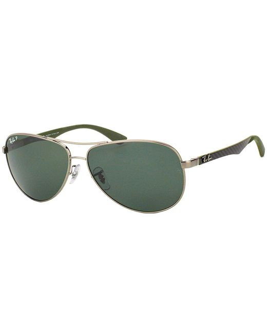Ray-Ban - Green Aviator Carbon Fiber Sunglasses - Lyst