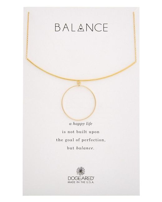 Dogeared - Multicolor Balance 14k Plated Balance Necklace - Lyst