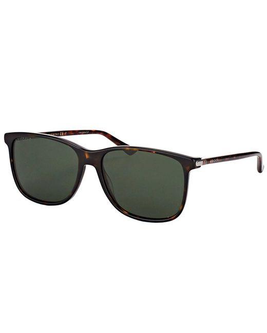 Gucci - Multicolor Gg0017s 007 Havana Square Sunglasses - Lyst