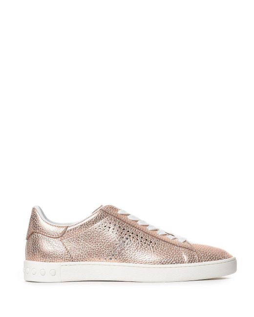 Tod's - Women's Pink Leather Sneakers - Lyst