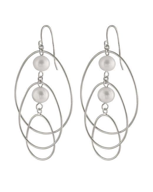 Splendid | Metallic Chandelier Double Pearl Earrings | Lyst