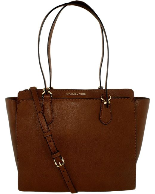 14eb3e17a1 Michael Kors - Brown Women s Large Dee Dee Convertible Leather Shoulder Bag  Tote - Lyst ...