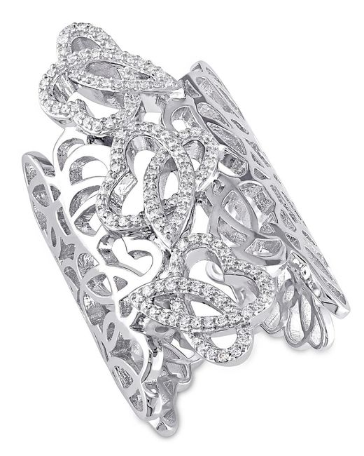 Julianna B | Metallic 3/8 Ct Diamond Tw Fashion Ring | Lyst