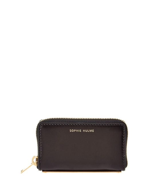 Sophie Hulme | Black Rosebery Leather Coin Purse | Lyst