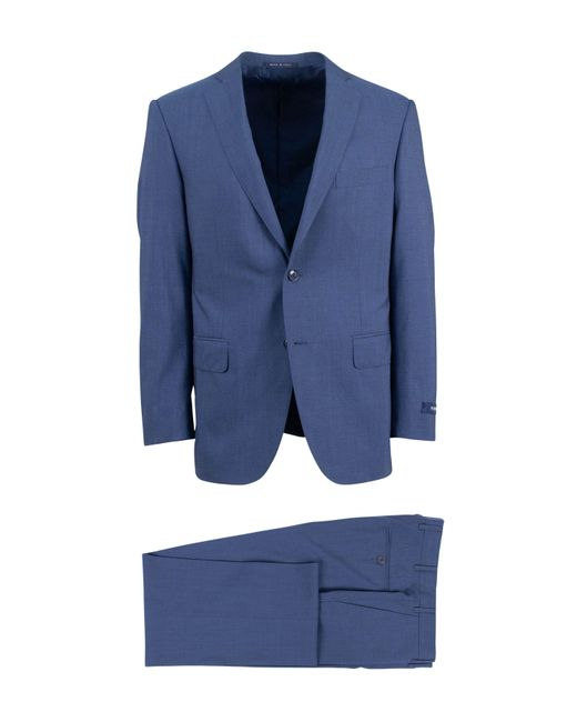 Pal Zileri - Blue Solid Wool Two Button Suit for Men - Lyst