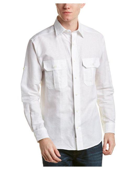 Bills Khakis - White Standard Issue Classic Fit Linen-blend Woven Shirt for Men - Lyst