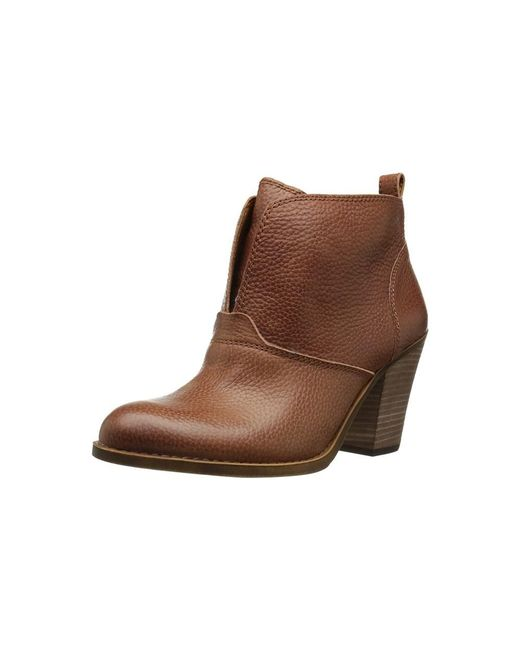 Lucky Brand - Brown Womens Ehllen Leather Closed Toe Ankle Fashion Boots Fashion Boots - Lyst