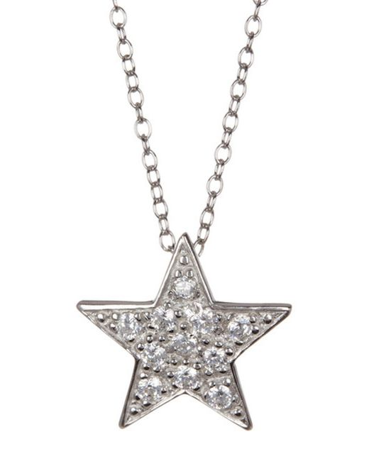 Adornia - Metallic Sterling Silver Star Necklace - Lyst