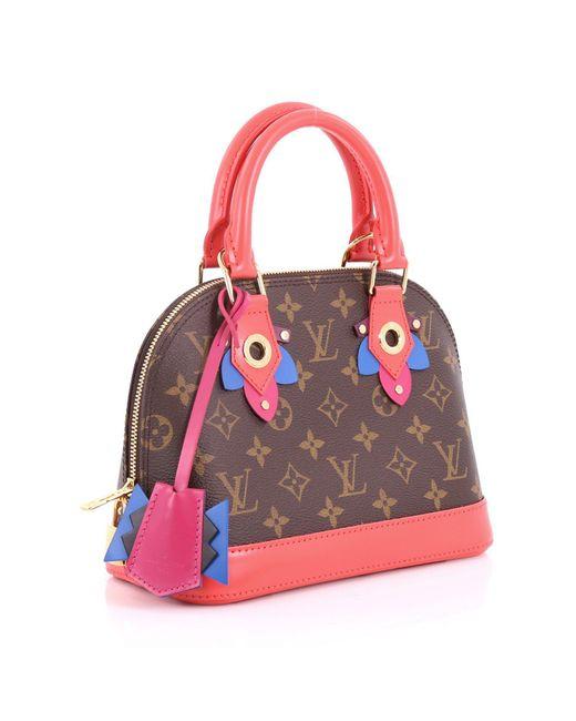 77ac0a6c307c ... Louis Vuitton - Multicolor Pre Owned Alma Handbag Limited Edition Totem Monogram  Canvas Bb - Lyst ...