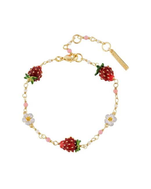 Les Nereides - Red Royal Gardens Strawberries And White Flowers Bracelet - Lyst