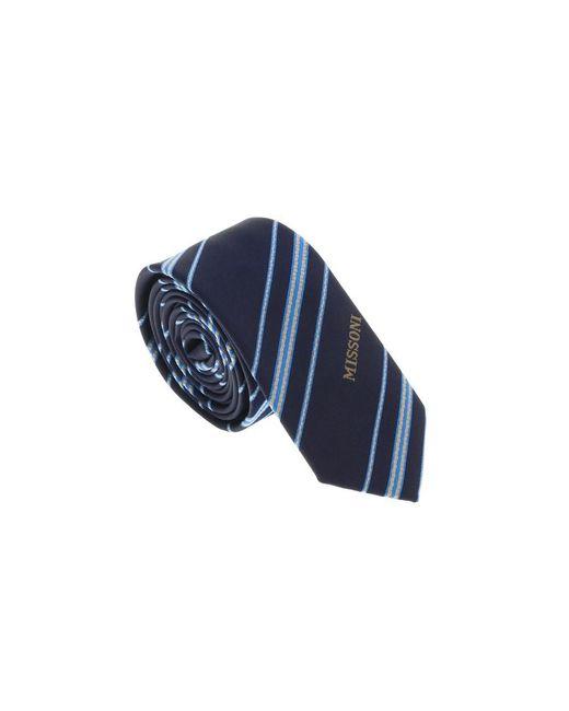 Missoni - Blue U5026 Navy/silver Repp 100% Silk Tie for Men - Lyst