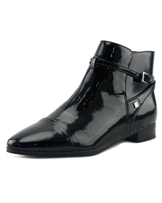 Ivanka Trump | Meria Women Round Toe Patent Leather Black Bootie | Lyst