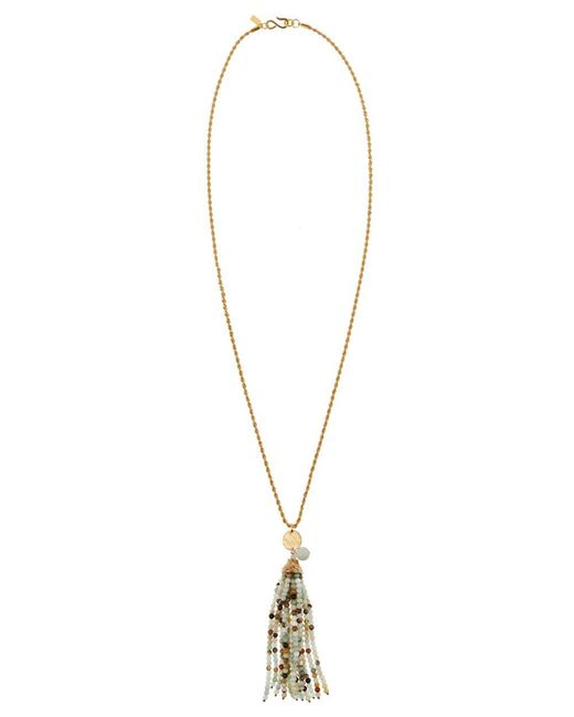 Kenneth Jay Lane | Metallic Women's Yellow Gold/amazonite Necklace | Lyst