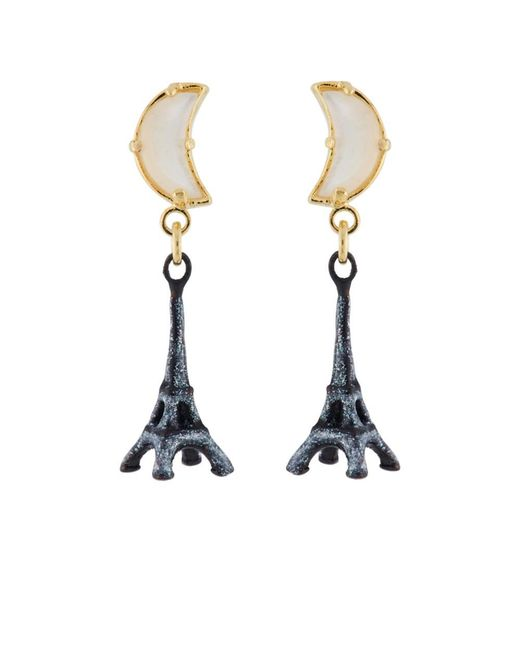 Les Nereides - Gray From Paris With Love Eiffel Tower In The Moonlight Earrings - Lyst