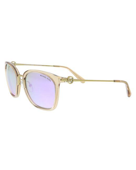 133967c8e6 Michael Kors - Multicolor Mk2064 33544v Light Brown Crystal Rectangle  Sunglasses - Lyst ...